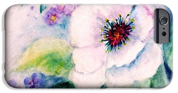 Garden Scene Paintings iPhone Cases - Delicate Beauty iPhone Case by Hazel Holland