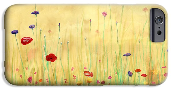 Cecilia iPhone Cases - Delicate Poppies iPhone Case by Cecilia  Brendel