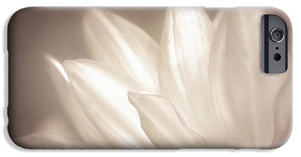 Close Focus Floral iPhone Cases - Delicate iPhone Case by Scott Norris