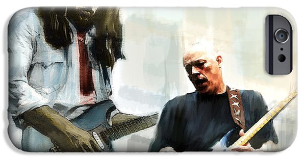Nj iPhone Cases - Delicate Sound of Brilliance  David Gilmour iPhone Case by Iconic Images Art Gallery David Pucciarelli
