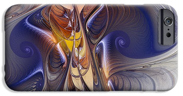 Poetic iPhone Cases - Delicate Spiral Duo in Blue iPhone Case by Karin Kuhlmann