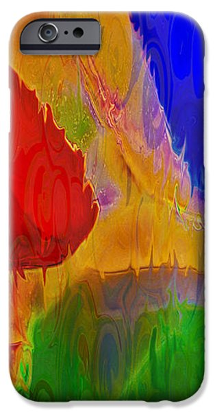 Abstract Digital Paintings iPhone Cases - Delicious Colors iPhone Case by Omaste Witkowski