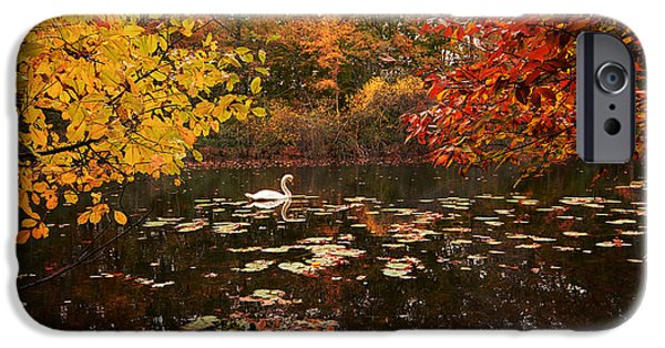 New England Autumn iPhone Cases - Delightful Autumn iPhone Case by Lourry Legarde