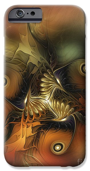 Abstract Expressionism Digital iPhone Cases - Delightful Awakening-Abstract Art iPhone Case by Karin Kuhlmann