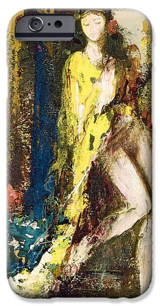 Posters Of Women iPhone Cases - Delilah iPhone Case by Gustave Moreau