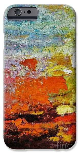 Pollock Pastels iPhone Cases - Delirium iPhone Case by John Clark