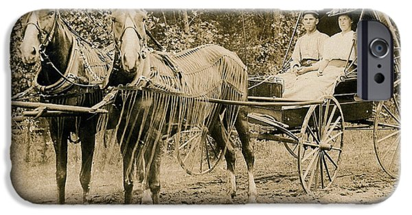 Horse And Buggy Photographs iPhone Cases - Delivering The Mail 1907 iPhone Case by Floyd Russell