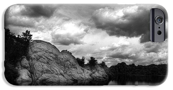 Prescott iPhone Cases - Dells Cloud Monochrome iPhone Case by Wayne King