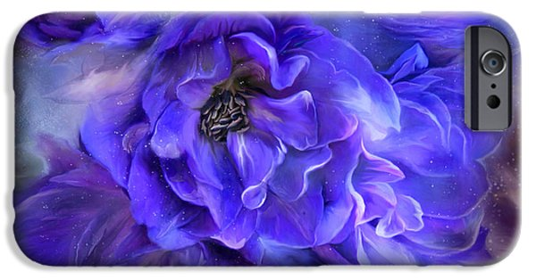 Dolphin iPhone Cases - Delphinium Sea - A Dolphin Mystery iPhone Case by Carol Cavalaris