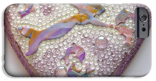 Magical Reliefs iPhone Cases - Delphinixien 2 iPhone Case by Heidi Sieber