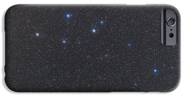 Constellations iPhone Cases - Delphinus Constellation On A Hazy Night iPhone Case by Alan Dyer