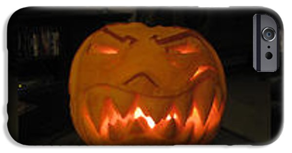 Vivid Sculptures iPhone Cases - Demented mister Ullman Pumpkin 2 iPhone Case by Shawn Dall