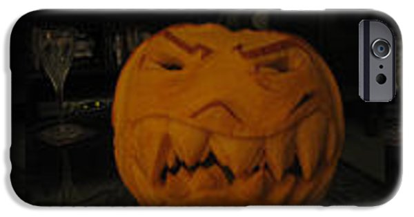 Vivid Sculptures iPhone Cases - Demented mister Ullman Pumpkin 3 iPhone Case by Shawn Dall