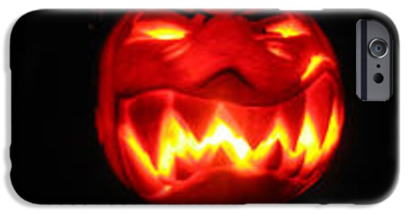 Vivid Sculptures iPhone Cases - Demented mister Ullman Pumpkin iPhone Case by Shawn Dall