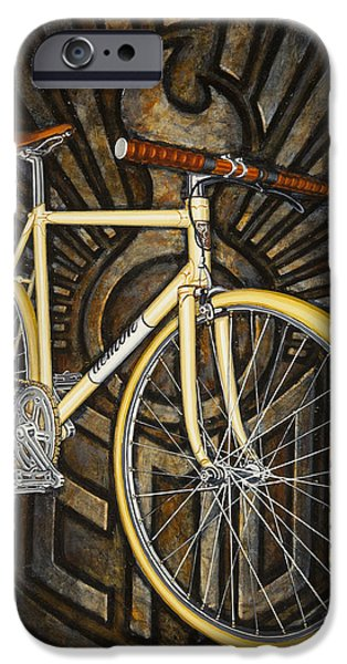 Demon path racer bicycle iPhone Case by Mark Howard Jones