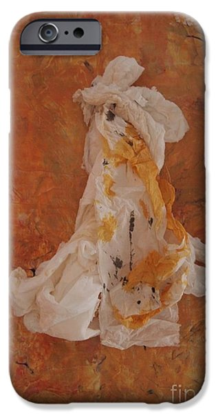 Paper Sculptures iPhone Cases - Demure iPhone Case by Nancy Kane Chapman