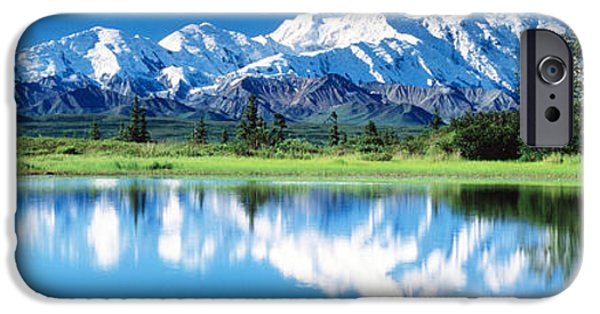 Snowy Day iPhone Cases - Denali National Park Ak Usa iPhone Case by Panoramic Images