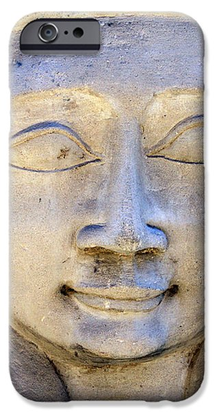 Dendara Carving 2 - Hathor iPhone Case by Brian Raggatt