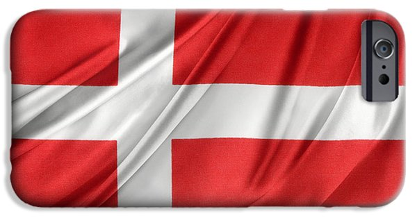 Patriotism iPhone Cases - Denmark flag iPhone Case by Les Cunliffe