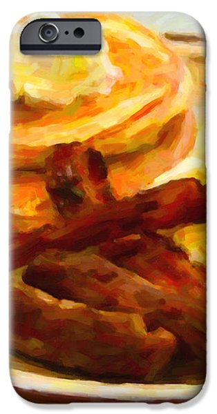 Denny's Grand Slam Breakfast - Painterly iPhone Case by Wingsdomain Art and Photography