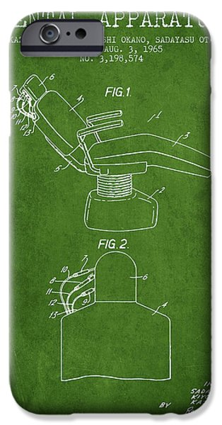 Surgery iPhone Cases - Dental Apparatus patent from 1965 - Green iPhone Case by Aged Pixel