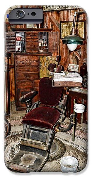 Old-fashioned iPhone Cases - Dentist - The Dentist Chair iPhone Case by Paul Ward