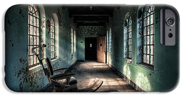 Gary Heller iPhone Cases - Dentists Chair in the Corridor iPhone Case by Gary Heller