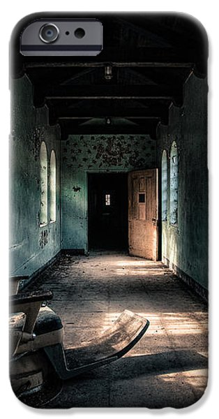 Dentists Chair in the Corridor iPhone Case by Gary Heller