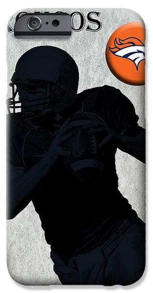 Pro Football iPhone Cases - Denver Broncos Football iPhone Case by David Dehner