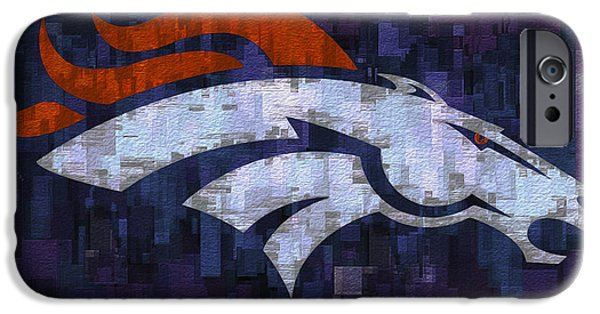 Division iPhone Cases - Denver Broncos iPhone Case by Jack Zulli
