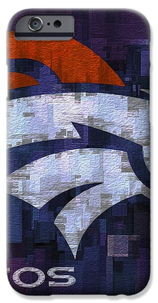 Denver Broncos iPhone Case by Jack Zulli