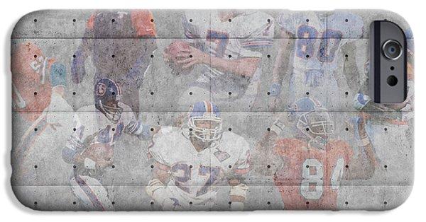 Broncos iPhone Cases - Denver Broncos Legends iPhone Case by Joe Hamilton