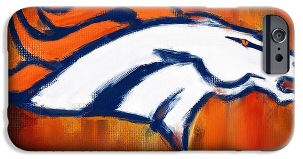 Quarterback iPhone Cases - Denver Broncos iPhone Case by Lourry Legarde