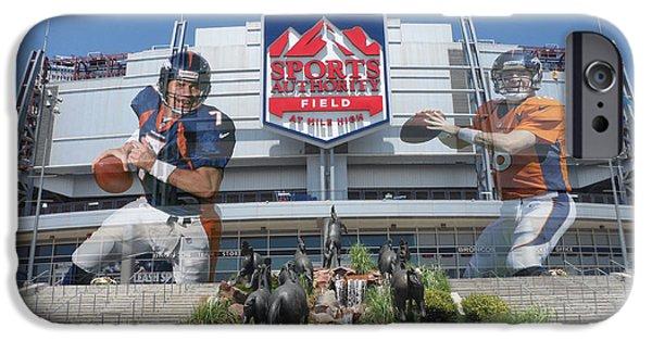 Authority iPhone Cases - Denver Broncos Sports Authority Field iPhone Case by Joe Hamilton