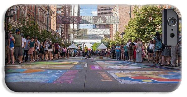 Asphalt iPhone Cases - Denver Chalk Art Festival at Larimer Square 2014 iPhone Case by Juli Scalzi