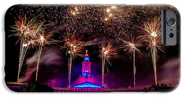 4th July Photographs iPhone Cases - Denver Colorado Independence Eve Fireworks iPhone Case by Teri Virbickis