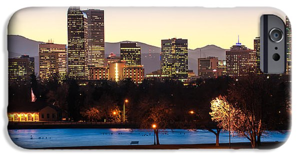 High Park Fire iPhone Cases - Denver Colorado Skyline from City Park iPhone Case by Gregory Ballos