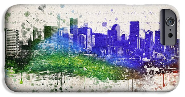 Denver Colorado iPhone Cases - Denver in Color iPhone Case by Aged Pixel