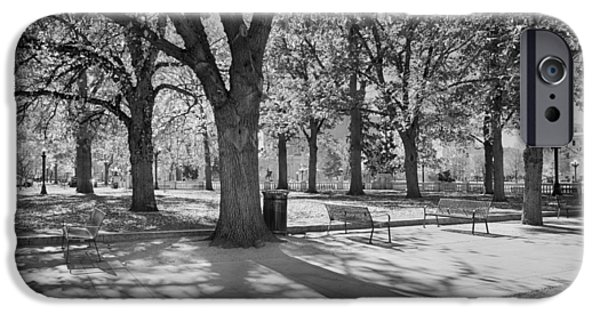 Buildings Mixed Media iPhone Cases - Denver Park In November BW iPhone Case by Angelina Vick