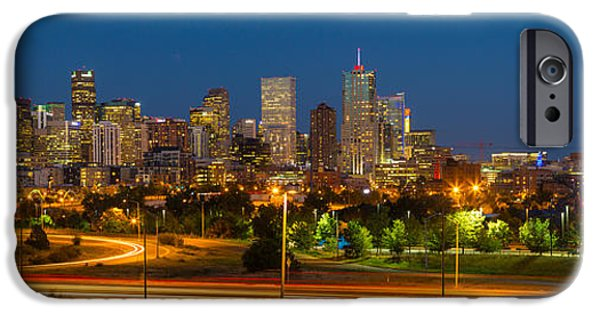 House iPhone Cases - Denver Skyline iPhone Case by Inge Johnsson