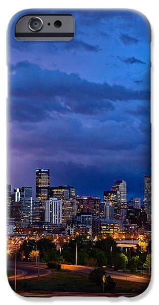 Denver Skyline iPhone Case by John K Sampson