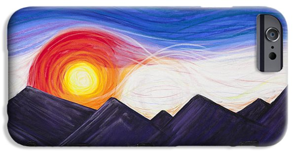 Sunset Pastels iPhone Cases - Denver Sunset iPhone Case by Dana Strotheide