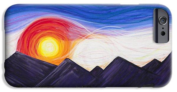 Purple Pastels iPhone Cases - Denver Sunset iPhone Case by Dana Strotheide
