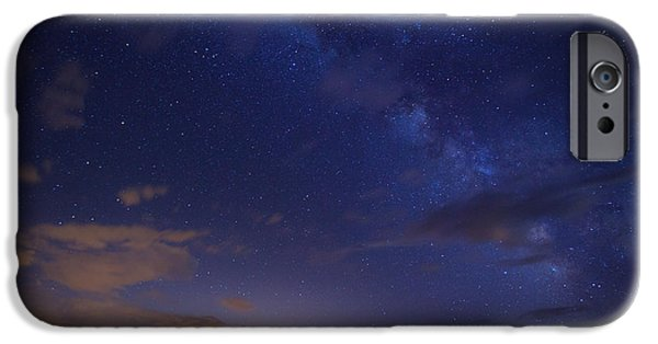 Denver Colorado iPhone Cases - Denvers Milky Way iPhone Case by Darren  White