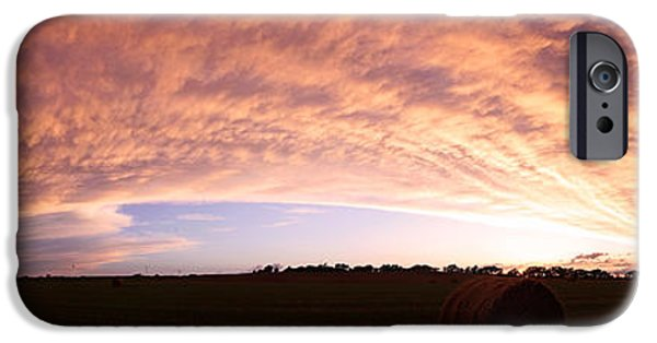 Nebraska iPhone Cases - Departing Storm iPhone Case by Chris  Allington