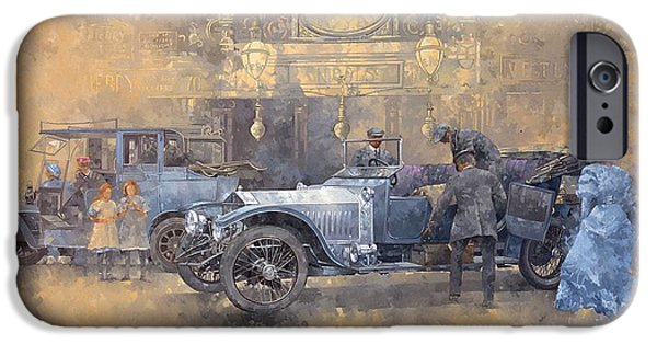 Automotive iPhone Cases - Departure For Christmas Oil On Canvas iPhone Case by Peter Miller