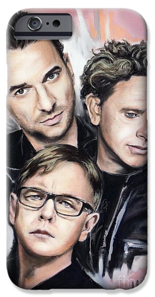 Gore iPhone Cases - Depeche Mode iPhone Case by Melanie D