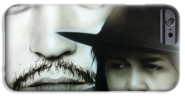 Johnny iPhone Cases - Depp iPhone Case by Christian Chapman Art