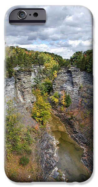 Taughannock Falls iPhone Cases - Gorge Landscape iPhone Case by Christina Rollo