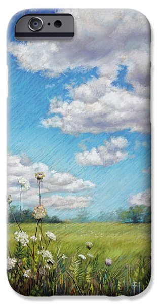 Field. Cloud Pastels iPhone Cases - Depth of Field iPhone Case by Lisa  Ober